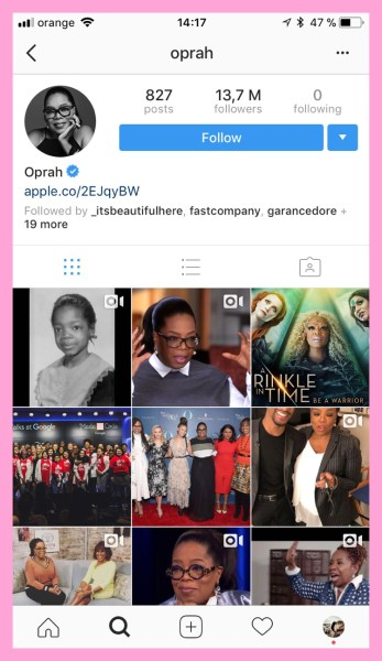 Oprah doesn't need instagram bio ideas with emoji