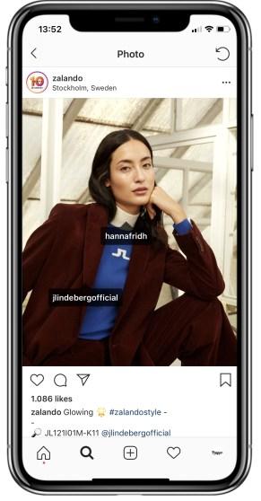 user and location tagging on Instagram