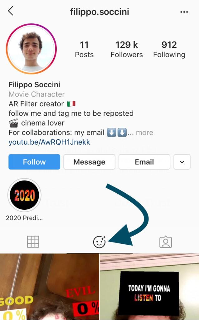 AR filters creator Filippo Soccini