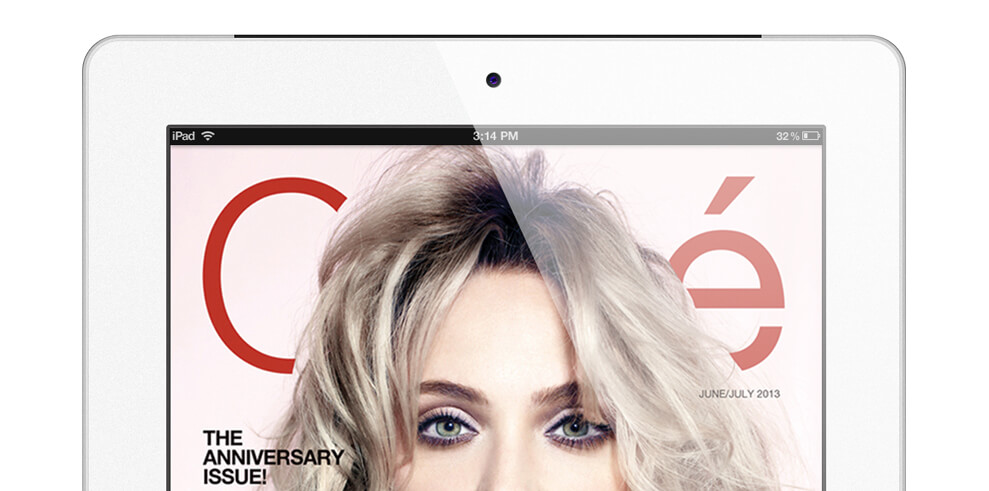 Cliche magazine cover on ipad
