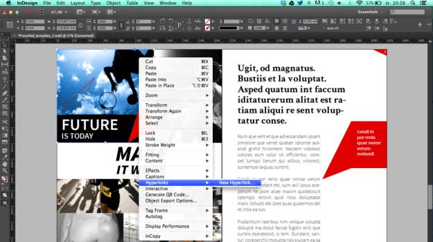 Interactive PDF with hyperlinks, interilnks