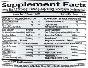 NovaPump Neuro Ingredients