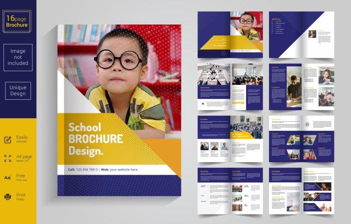 contoh brosur sekolah keren