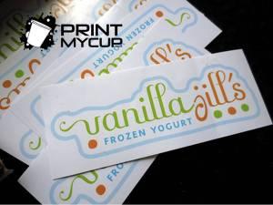Vanilla Jill's 3 frozen yogurt www.printmycup.com custom yogurt cups