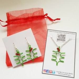 Handmade Wirework Holly And Berries Jewellery Set - Gert Lush Designs
