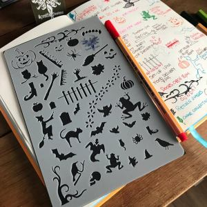 Halloween Bullet Journal Stencil - Spratt's designs