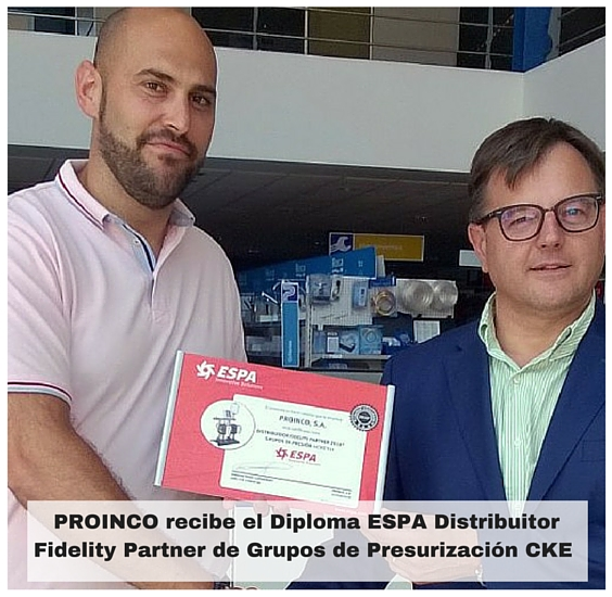Diploma ESPA Distributor Fidelity Partner