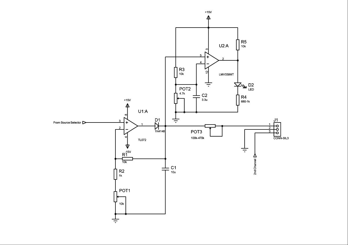 Monitoring Amplifier P4 Vu Meter Driver