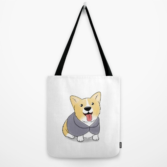 Caped Corgi bag
