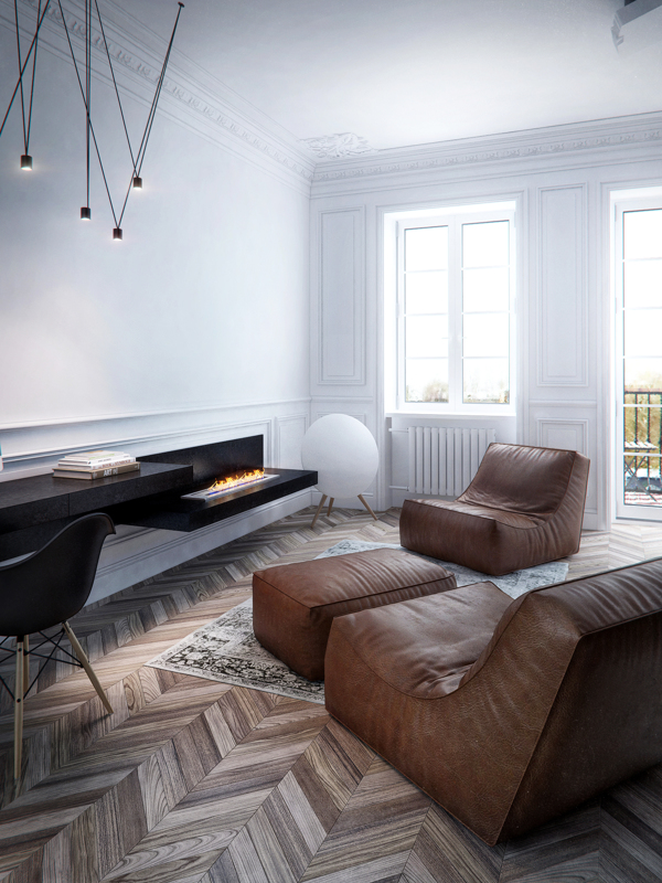 French Neo Classical Apartment Design Moscow