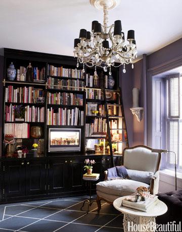 Ideias de decoração para uma biblioteca em casablog da ...