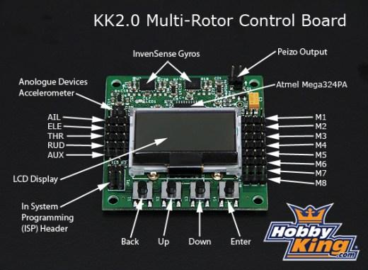 Hobbyking KK2 Multi-rotor LCD Flight Control Board
