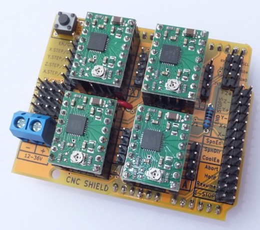 Arduino CNC Shield V3 - Top View