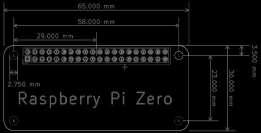 Raspberry Pi Zero Dimensions