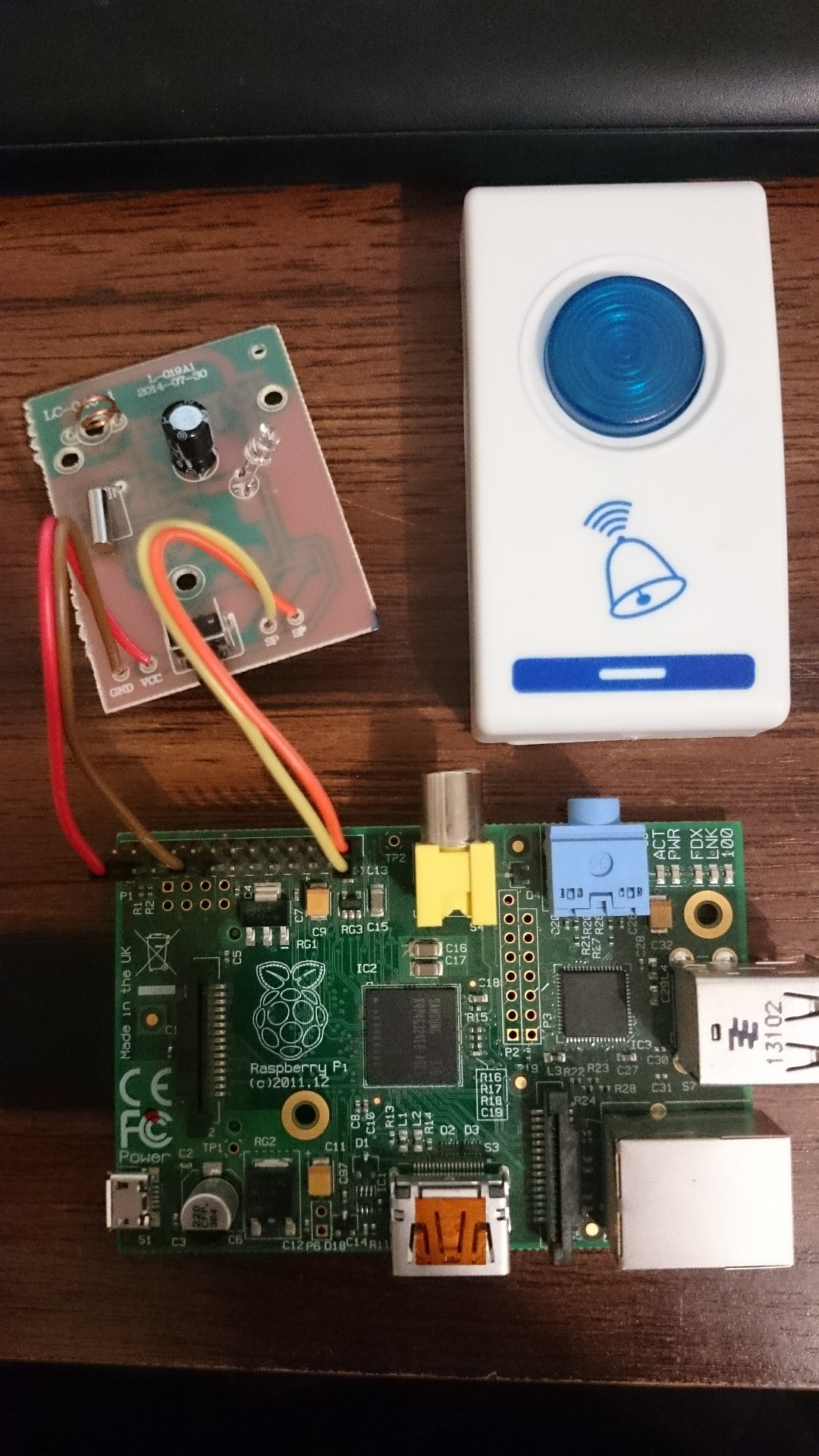Raspberry Pi Doorbell And Camera Part 1 Prototype Creations Wolfson Audio Card Circuit Board For Cancel Reply