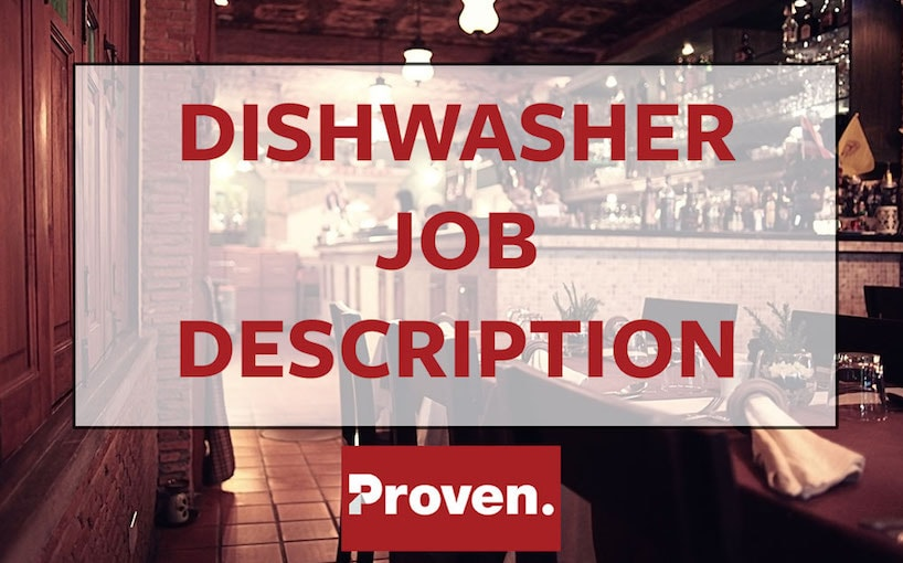 The Perfect Dishwasher Job Description U2013 Proven