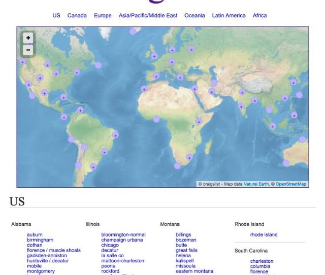 Navigate To Craigslist Without A Geo