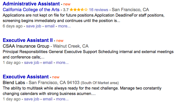 Administrative Assistant Example