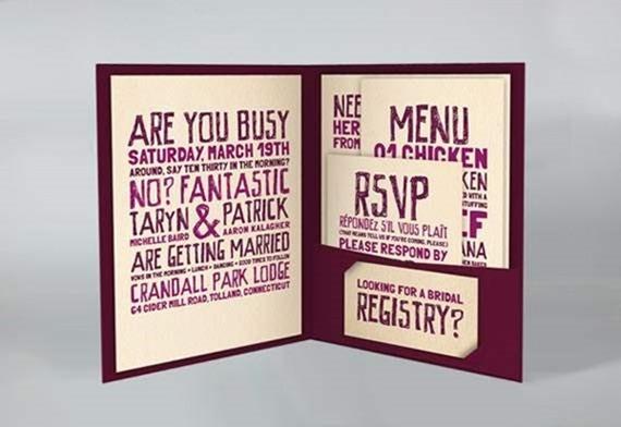 25 Unique Wedding Invitations You Wish