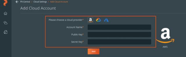 PX-Backup -Add Cloud Account