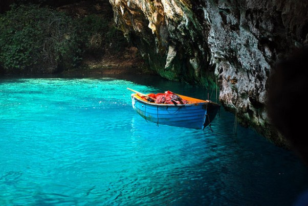 Melissani cave in Kefalonia via Purple Travel