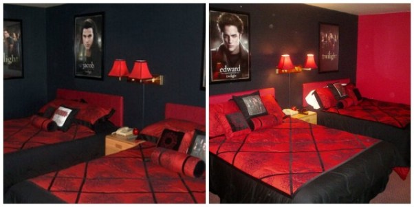 Twilight themed hotel rooms from Purple Travel