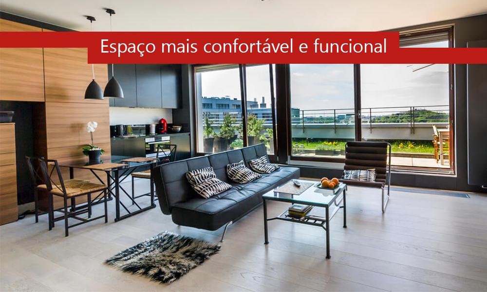 Espaço confortavel e funcional