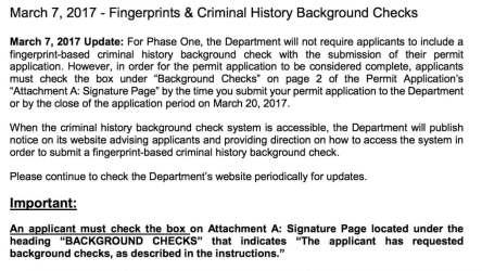 Pennsylvania Medical Marijuana Background and Fingerprinting Checks