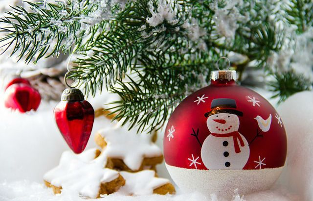 Décoration de Noël et table de repas