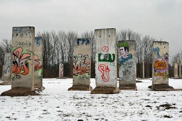 Trozos del Muro de Berlin