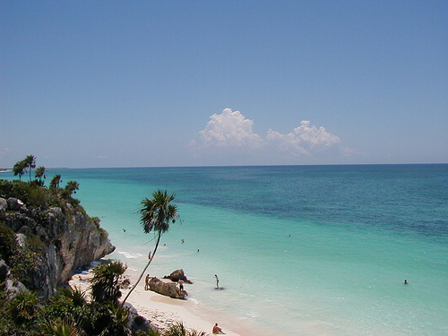 Beach at Tulum (Cancún)