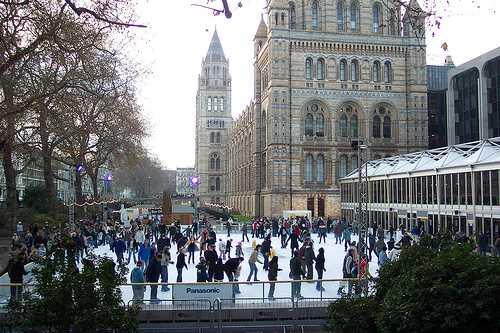 Pista de patinaje del Museo de Historia Natural