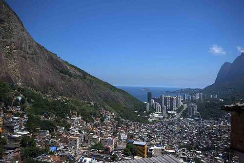 Vistas desde la favela Rocinha
