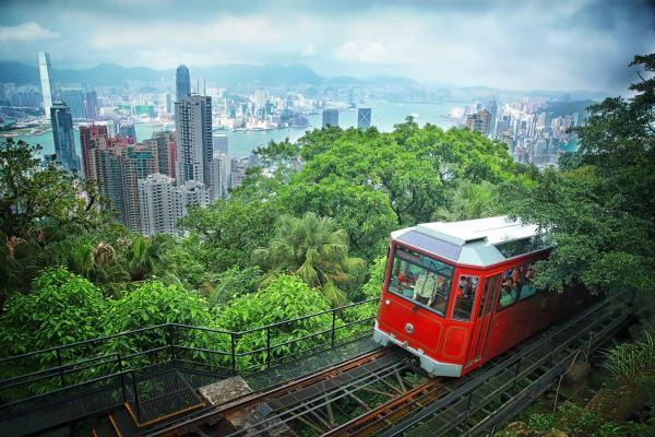 Tranvia paisaje Hong Kong
