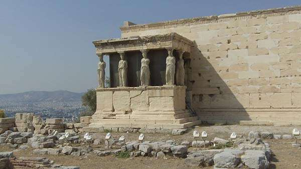 Cariátides en la Acrópolis