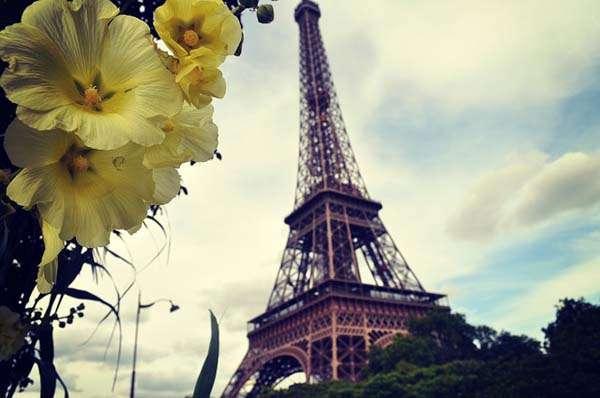Torre Eiffel foto romántica