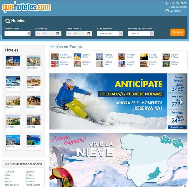 Temporada de nieve - oferta de hoteles