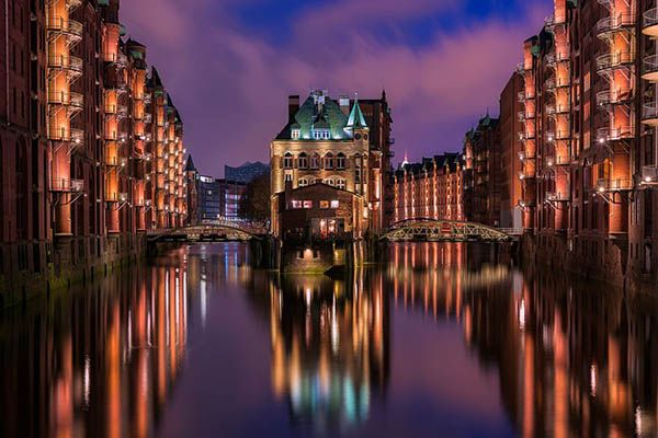 Hamburgo de noche