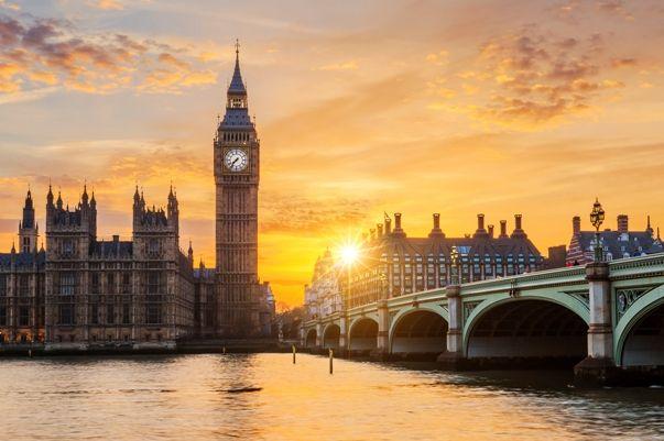 Londres en el puente de diciembre