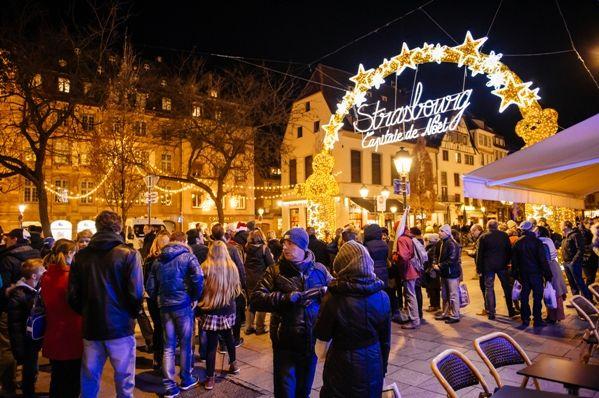 Mercadillo en Estrasburgo