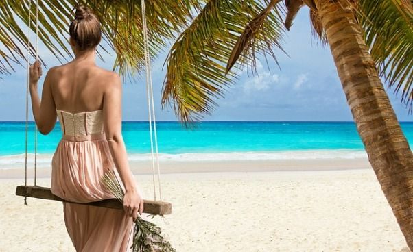 Turista en el Caribe