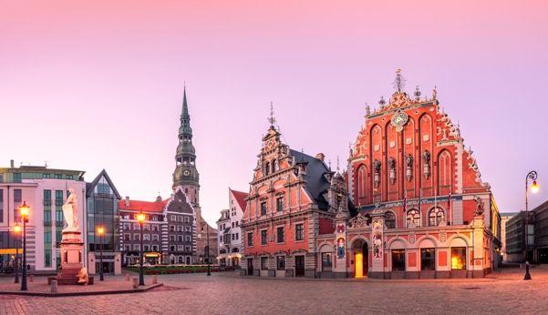 Centro histórico de Riga en Letonia