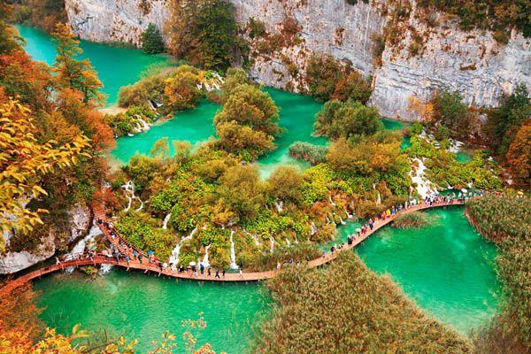 lagos de Plitvice en Croacia