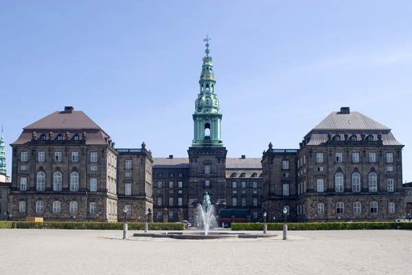 Palacio de Christianborg en Copenhague