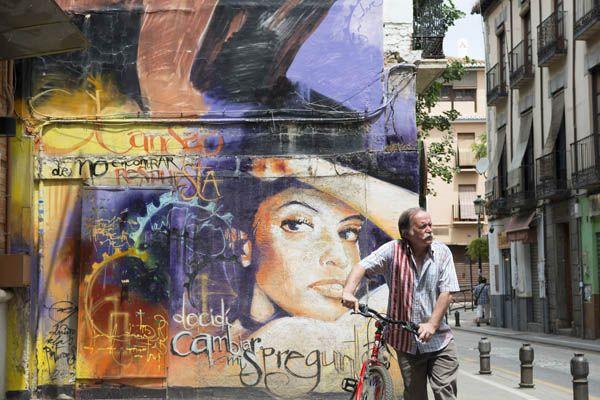 Graffitis en las calles de Granada