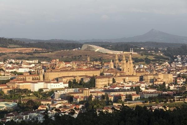 Santiago de Compostela desde el Monte Pedroso