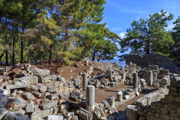 Ruinas de Phaselis, Antalya, Turquía