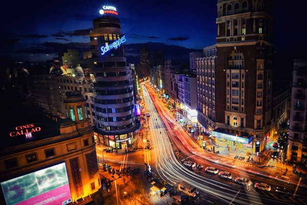 Vistas Gran Vía, Madrid