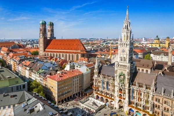 Vista panorámicas Múnich