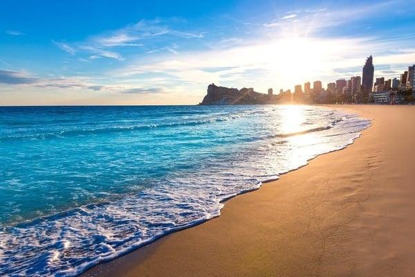 Las mejores playas de Benidorm- Playa de Poniente